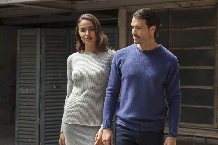 Men's Round Neck Cashmere Sweaters
